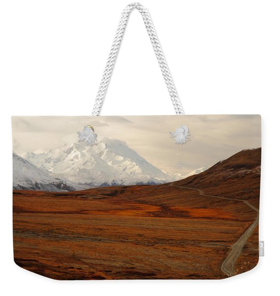 Denali And Tundra In Autumn Weekender Tote Bag