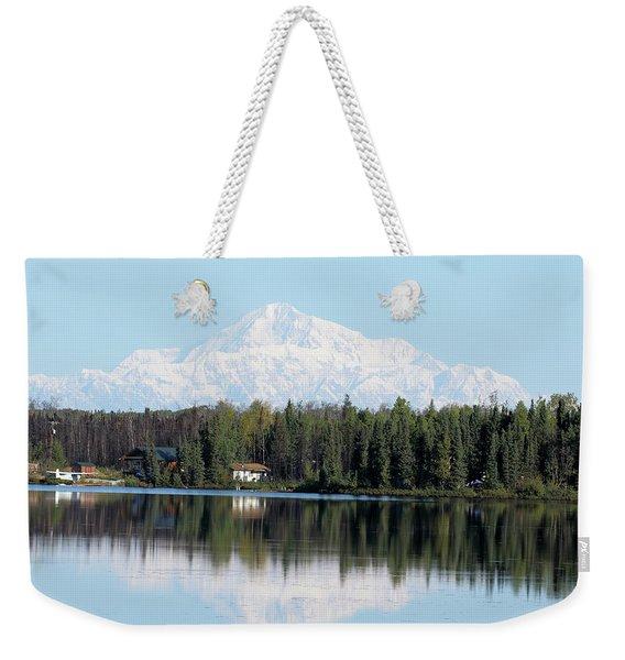 Denali From Kashwitna Lake Weekender Tote Bag
