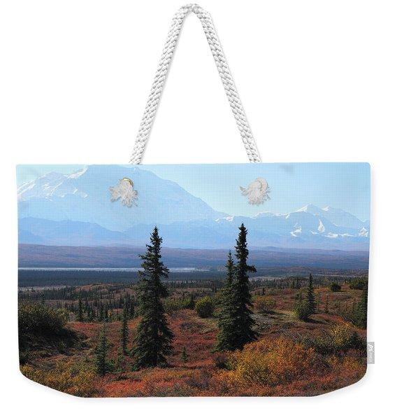 Denali From Near Wonder Lake Weekender Tote Bag