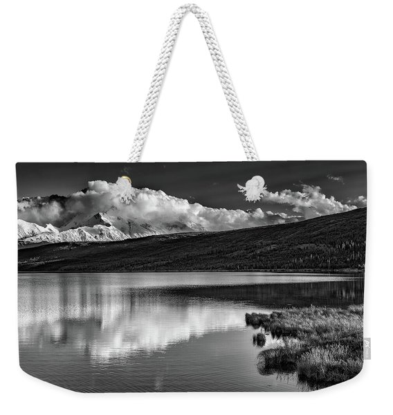 Denali Reflections In Black And White Weekender Tote Bag