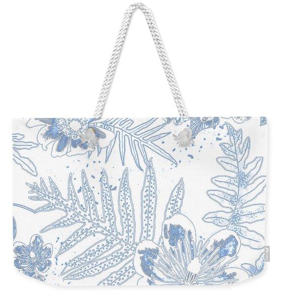Denim Fern Batik Outline Weekender Tote Bag