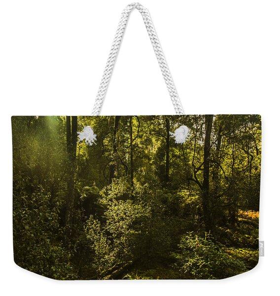Dense Green Tropical Forest Weekender Tote Bag