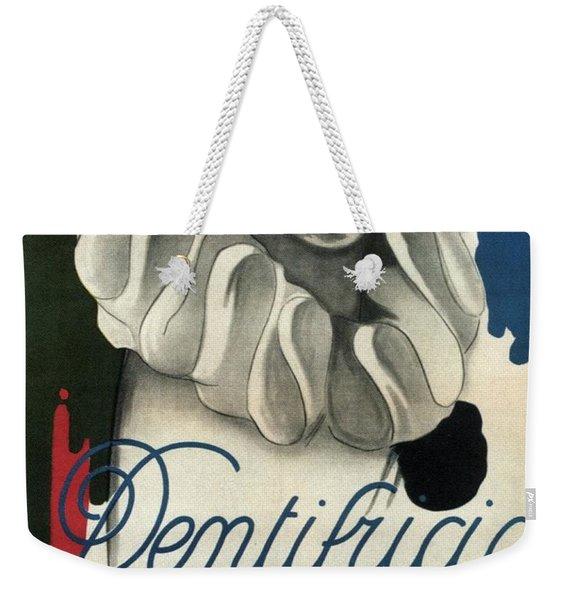 Dentifricio Kofler - Vintage Toothpaste Advertising Poster Weekender Tote Bag