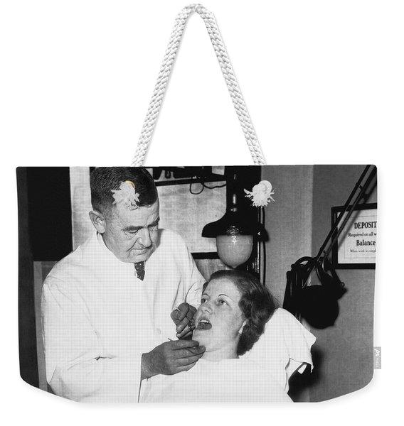 Dentist Has Cure For Pyorrhea Weekender Tote Bag