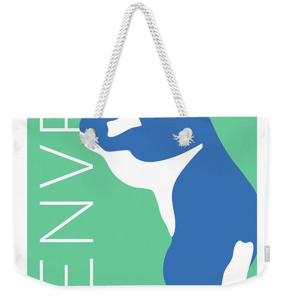 Denver Blue Bear/aqua Weekender Tote Bag