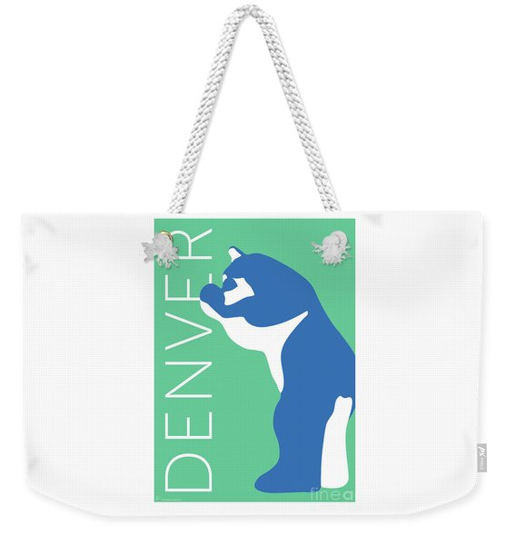Denver Blue Bear/aqua Weekender Tote Bag