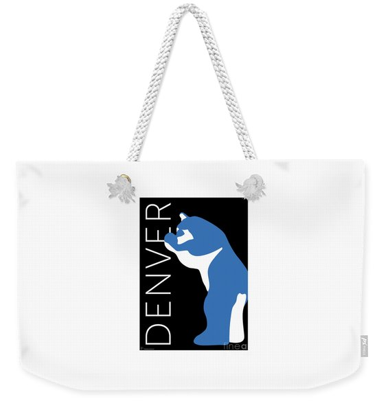 Denver Blue Bear/black Weekender Tote Bag
