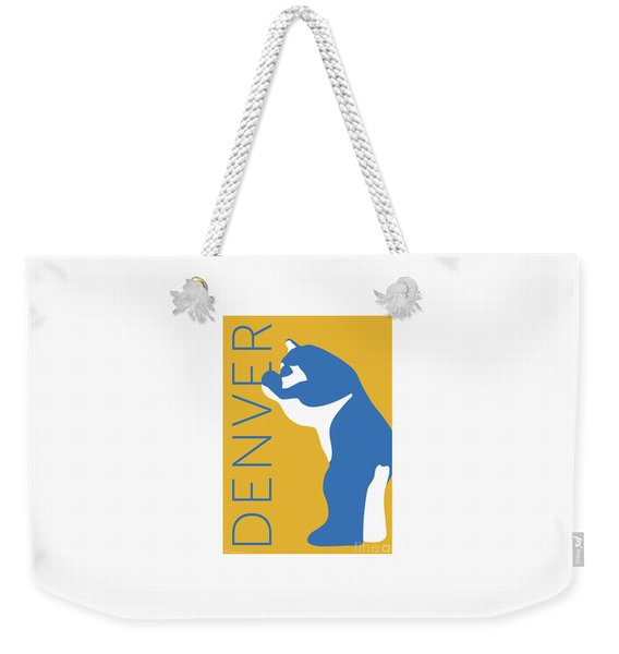 Denver Blue Bear/gold Weekender Tote Bag