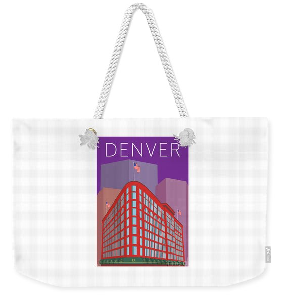 Denver Brown Palace/purple Weekender Tote Bag