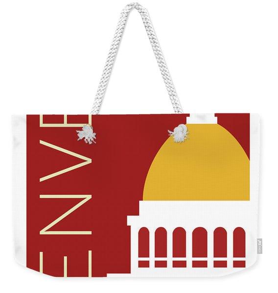 Denver Capitol/maroon Weekender Tote Bag