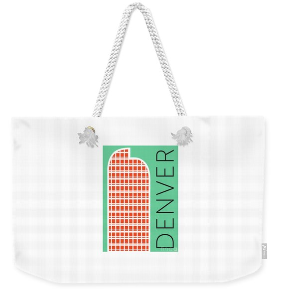 Denver Cash Register Bldg/aqua Weekender Tote Bag