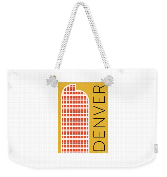 Denver Cash Register Bldg/gold Weekender Tote Bag