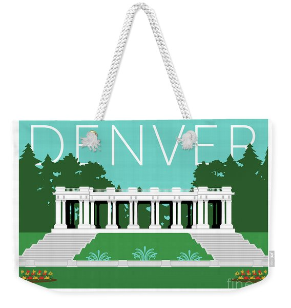 Denver Cheesman Park/lt Blue Weekender Tote Bag
