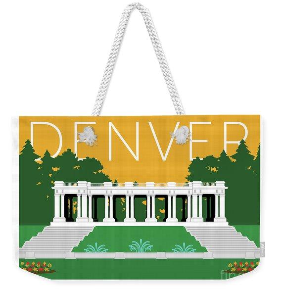 Denver Cheesman Park/gold Weekender Tote Bag