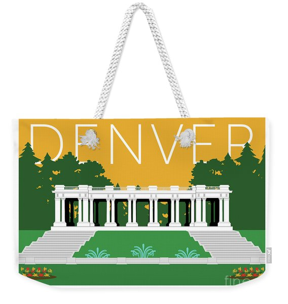 Denver Cheesman Park/gold Weekender Tote Bag