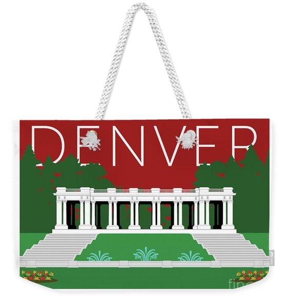 Denver Cheesman Park/maroon Weekender Tote Bag