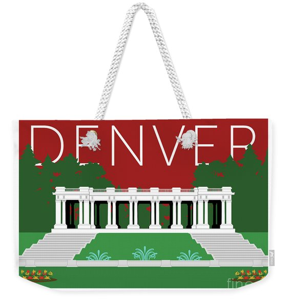 Denver Cheesman Park/maroon Weekender Tote Bag