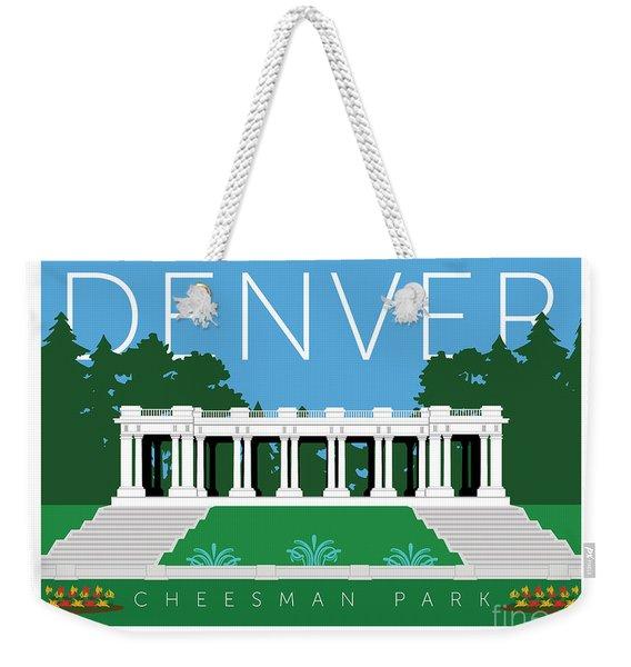 Weekender Tote Bag featuring the digital art Denver Cheesman Park by Sam Brennan