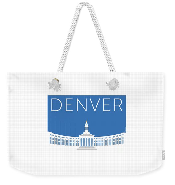 Denver City And County Bldg/blue Weekender Tote Bag