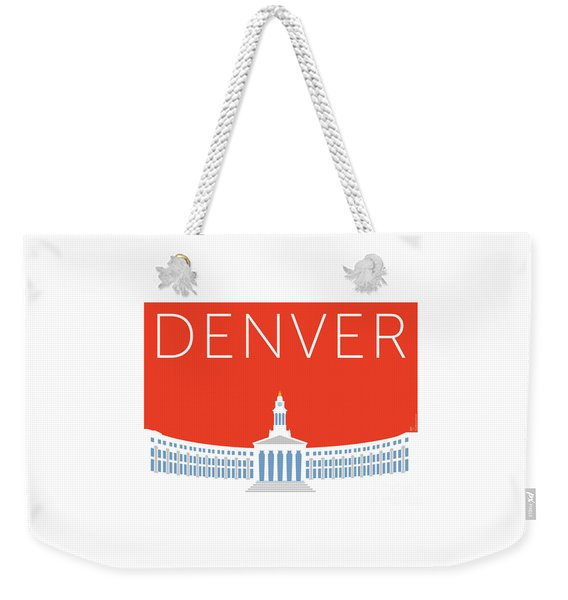 Denver City And County Bldg/orange Weekender Tote Bag