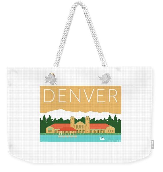 Weekender Tote Bag featuring the digital art Denver City Park/adobe by Sam Brennan