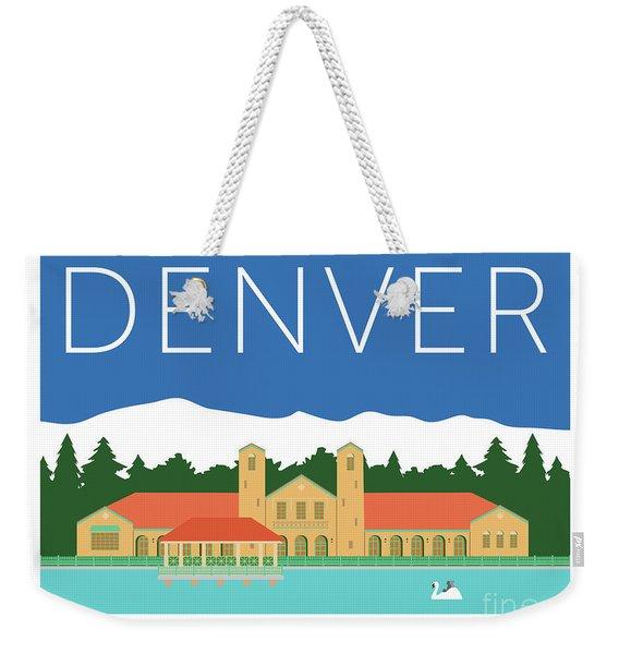Weekender Tote Bag featuring the digital art Denver City Park/blue by Sam Brennan
