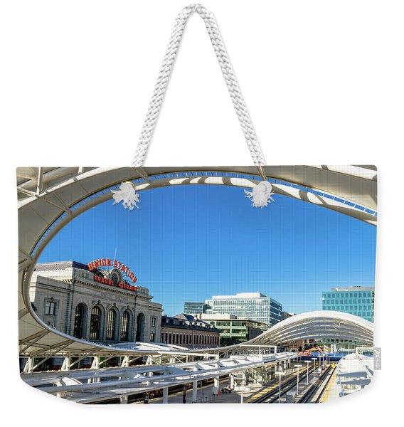Denver Co Union Station Weekender Tote Bag