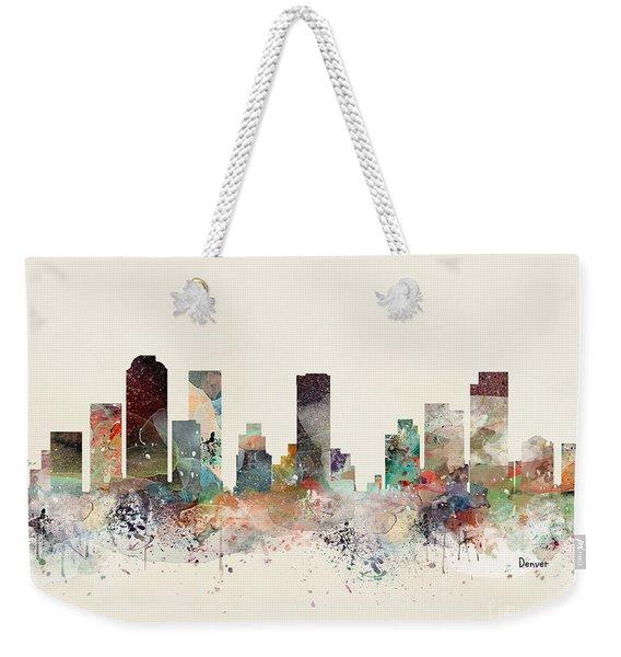 Denver Colorado Skyline Weekender Tote Bag