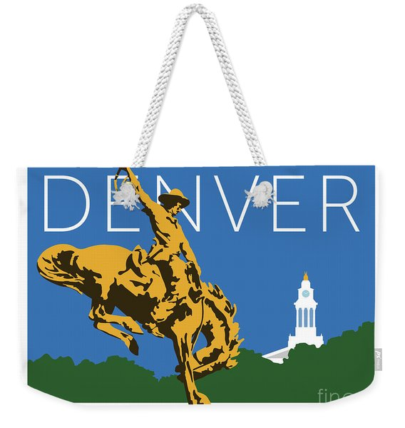 Denver Cowboy/dark Blue Weekender Tote Bag