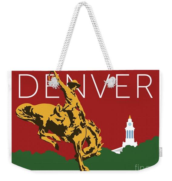Denver Cowboy/maroon Weekender Tote Bag