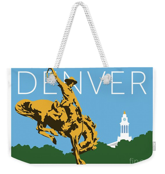 Denver Cowboy/sky Blue Weekender Tote Bag