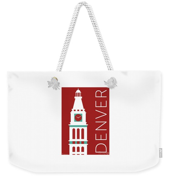 Denver D And F Tower/maroon Weekender Tote Bag