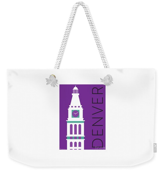 Denver D And F Tower/purple Weekender Tote Bag