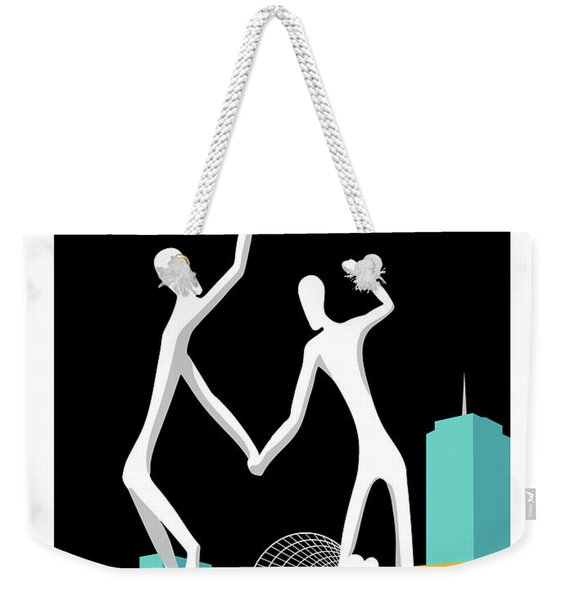 Denver Dancers/black Weekender Tote Bag