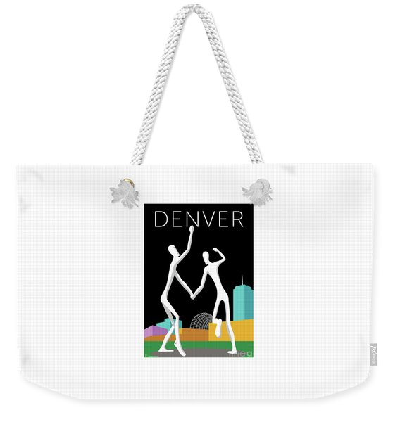 Denver Dancers/black Weekender Tote Bag