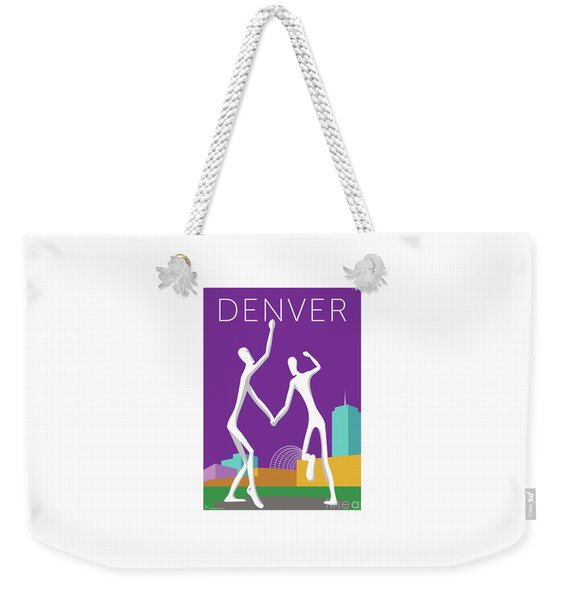 Denver Dancers/purple Weekender Tote Bag