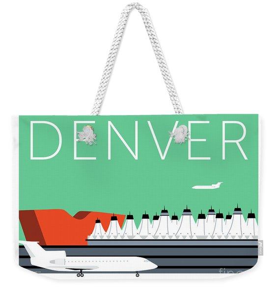 Denver Dia/aqua Weekender Tote Bag