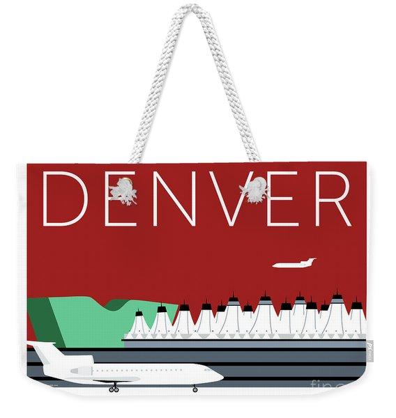 Denver Dia/maroon Weekender Tote Bag