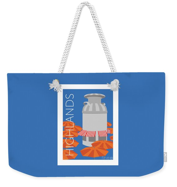 Denver Highlands/blue Weekender Tote Bag
