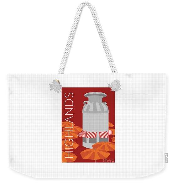 Denver Highlands/maroon Weekender Tote Bag