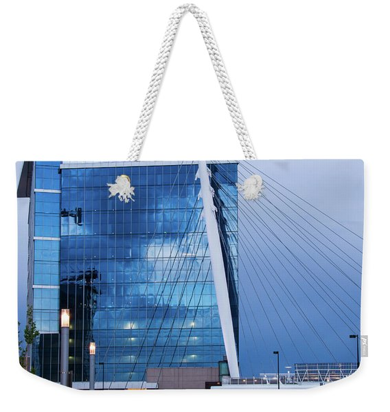 Denver Union Station And Milennium Bridge Weekender Tote Bag