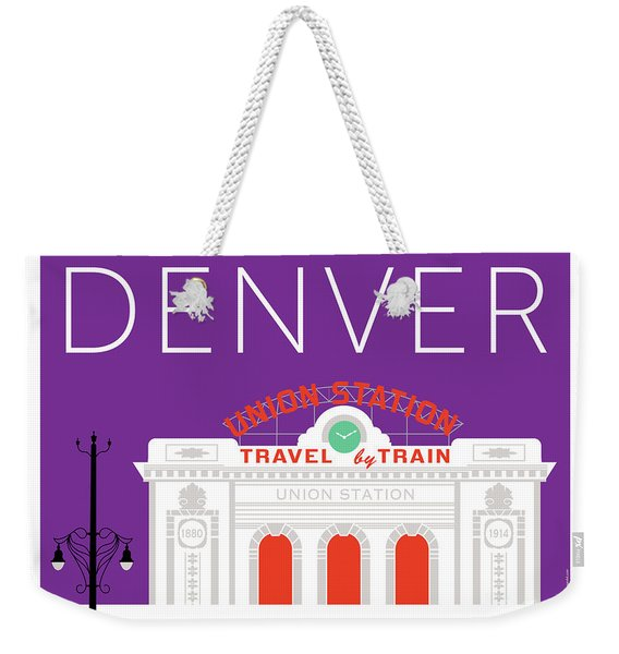 Denver Union Station/purple Weekender Tote Bag