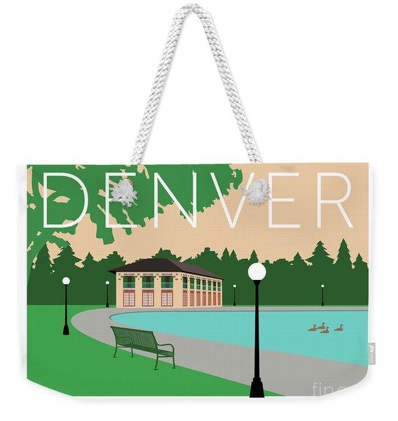 Weekender Tote Bag featuring the digital art Denver Washington Park/beige by Sam Brennan
