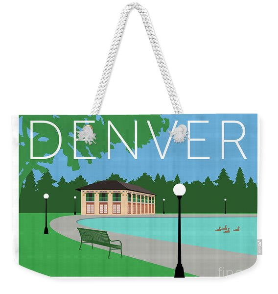 Denver Washington Park/blue Weekender Tote Bag