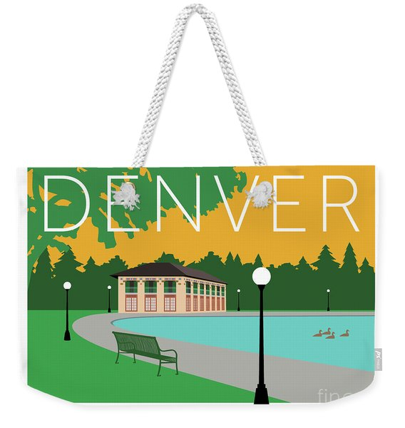 Denver Washington Park/gold Weekender Tote Bag
