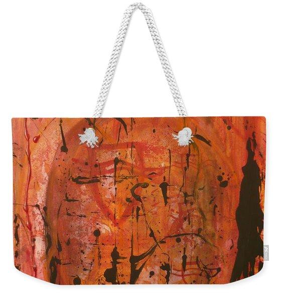 Departing Abstract Weekender Tote Bag