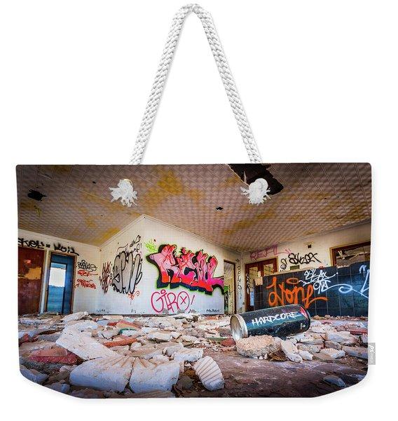 Derelict Campsite Building. Weekender Tote Bag