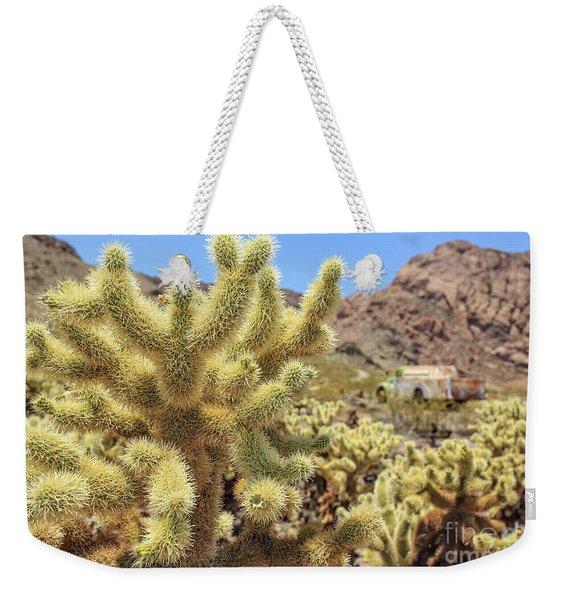 Desert Cactus Teddy Bear Cholla Eldorado Canyon Nevada Weekender Tote Bag