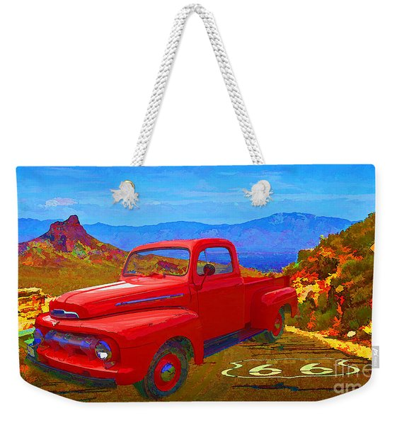 Desert Highway 2016 Weekender Tote Bag
