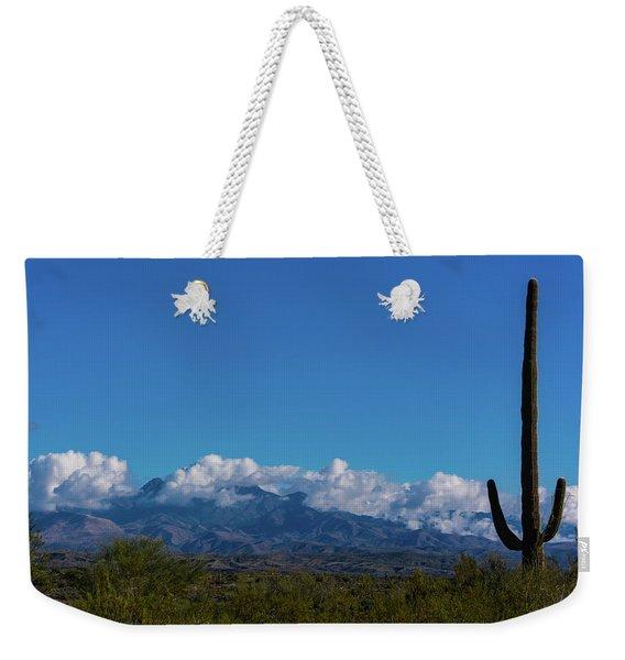 Desert Inversion Cactus Weekender Tote Bag